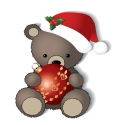Teddy bear is ready for the Christmas vector image