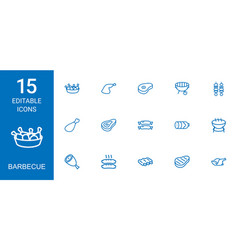 15 barbecue icons vector