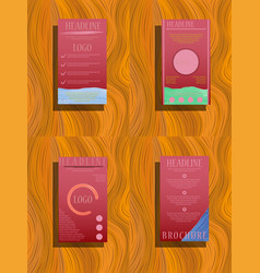 abstract a4 brochure cover design info banner vector image