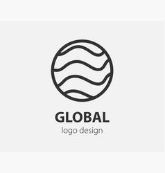 abstract logo design logo template vector image