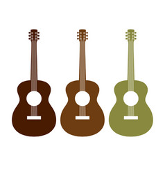 acoustic guitar graphic symbol design set vector image