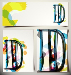 Artistic Greeting Card Letter D vector