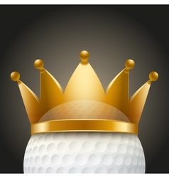 Background of Golf ball with royal crown vector image