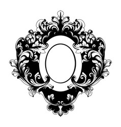 baroque rich oval shape frame vintage vector image