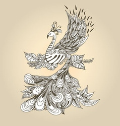 Bird Phoenix vector