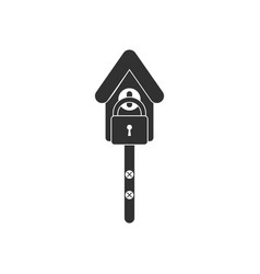 Black icon on white background wooden pethouse vector