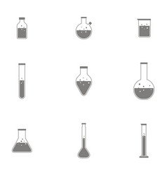 bottles with chemistry laboratory glassware vector image