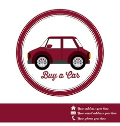 Buy a Car design vector image