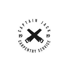 carpentry service logo logo design vector image