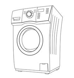 Cartoon image of washing machine vector