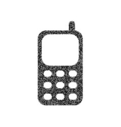 cell phone sign black icon from many vector image