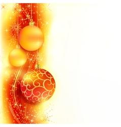 Christmas star border vector image