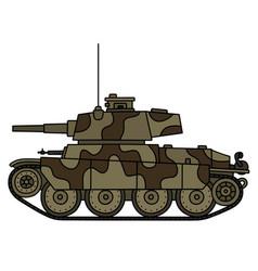 classic light tank vector image