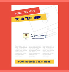 computer screen title page design for company vector image