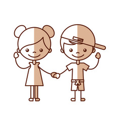 cute kids characters icon vector image