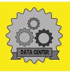 Data center gears wheel vector