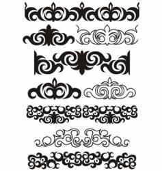 Decorative boarders vector