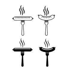 delicious sausage design vector image
