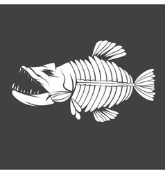 design template aggressive tropical fish vector image