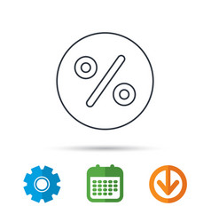 Discount percent icon sale sign vector