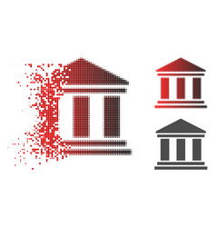 Disintegrating pixelated halftone library building vector