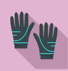 Diving gloves icon flat style vector