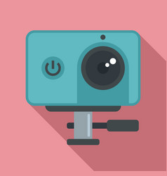 Dynamic action camera icon flat style vector