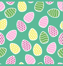Easter seamless pattern with small holiday eggs vector
