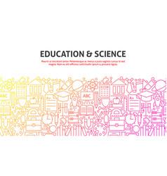 Education science concept vector