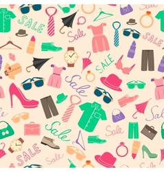Fashion and clothes accessories seamless pattern vector
