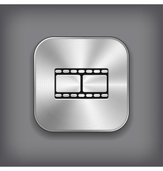 Film icon - metal app button vector