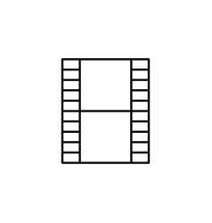 film video strip outline icon signs and symbols vector image