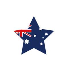 flag shape flag emblem australia icon on white vector image