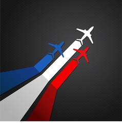 France plane vector image