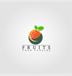 Fruits logo template logo for business corporate vector