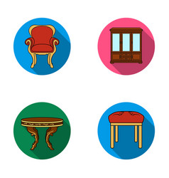 Furniture interior design chair furniture and vector