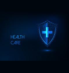 futuristic health care disease protection vector image