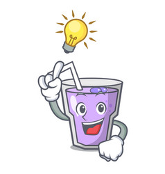 have an idea berry smoothie mascot cartoon vector image