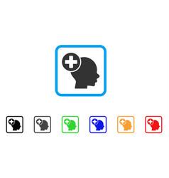 Head treatment framed icon vector