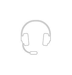 headphones flat icon vector image