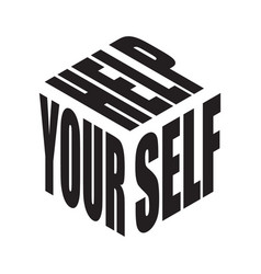 help yourself simple text slogan t shirt graphic vector image