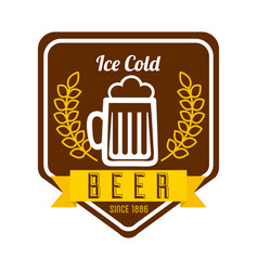 Ice cold beer poster vector