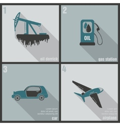 icons production and use of oil vector image