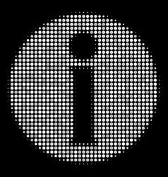 Info halftone icon vector