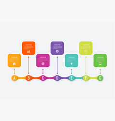 infographics 7 options vector image