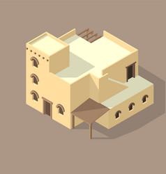 Iso arab house isolated on sandy vector