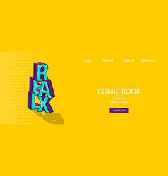 Isometric banner business flat site background vector