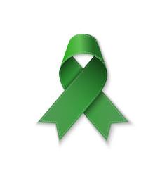 kelly green ribbon symbol ill vector image