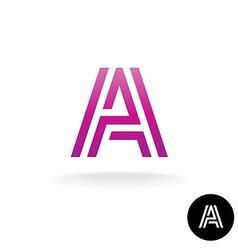 Letter A construction linear logo vector