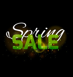 lettering spring sale on a black background with vector image
